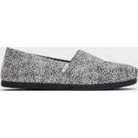 TOMS Women's Alpargata Printed Slip-On Pumps - Grey - UK 7
