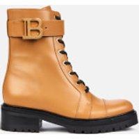 Balmain Women's Ranger Boot Leather - Dark Beige - UK 5