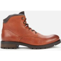 Tommy Hilfiger Men's Leather Lace Up Boots - Tan - UK 8
