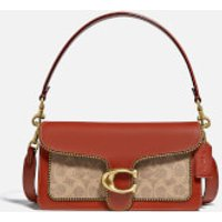 shop for Coach New York Women's Signature/Beadchain Tabby Shoulder Bag 26 - Tan Rust at Shopo