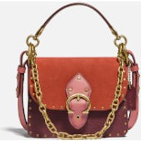 shop for Coach New York Women's Colorblock Beat Shoulder Bag 18 - Rust Multi at Shopo