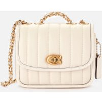 shop for Coach New York Women's Quilted Madison Shoulder Bag 16 - Chalk at Shopo