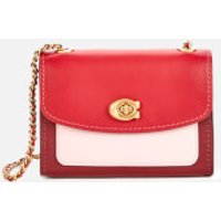 shop for Coach Women's Colorblock Parker 18 Shoulder Bag - Red at Shopo