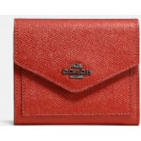 Coach Women's Crossgrain Leather Small Wallet - Red