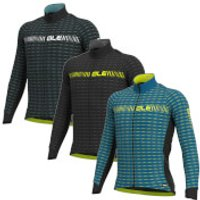 Ale Graphics Prr Green Road Winter Long Sleeve Jersey - M - Azure Blue/Fluro Yellow