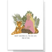 Merry Christmas All You Cool Cats And Kittens Greetings Card - Large Card