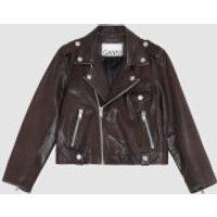 Ganni Women's Light Grain Leather Jacket - Chicory Coffee - EU 34/UK 6