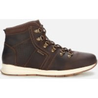 Barbour Men's Mills Leather Hiking Style Boots - Dark Brown - UK 7