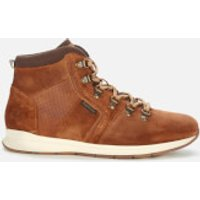 Barbour Men's Mills Suede Hiking Style Boots - Rust - UK 7