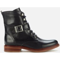 Barbour Women's Tasmin Leather Lace Up Boots - Black - UK 3