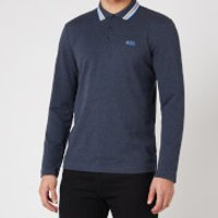 BOSS Athleisure Men's Plisy Longsleeve Polo Shirt - Navy - XL