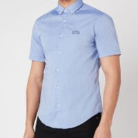 BOSS Athleisure Mens Biadia_R Short Sleeve Shirt - Blue - XXL