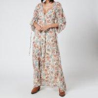 Free People Womens Earthfolk Maxi Dress - Tea Combo - M
