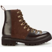 Grenson Women's Nanette Leather Hiking Style Boots - Dark Brown - UK 5