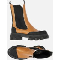 Ganni Women's Leather Chelsea Boots - Tigers Eye - UK 3