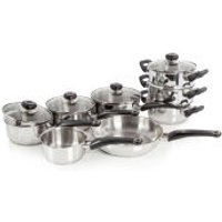 Morphy Richards 970001 8 Piece Pan Set - Stainless Steel - Kitchen Gifts