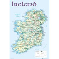 Ireland Map 2012 - Maxi Poster - 61 x 91.5cm - Ireland Gifts