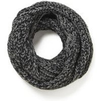 Impulse Womens Neon Knitted Snood - Black