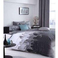 Catherine Lansfield City Scape Bedding Set - Multi - King - Multi
