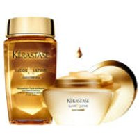Kerastase Elixir Ultime Huile Lavante Bain (250ml) and Beautifying Masque (200ml) Duo Bundle