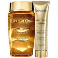 Krastase Elixir Ultime Huile Lavante Bain (250ml) and Creme Fine (150ml) Duo Bundle