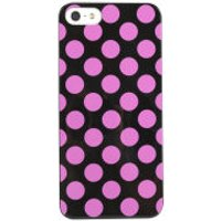 Cygnett Polkadot Case for iPhone 5 - Black / Pink