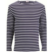 Armor Lux Mens Long Sleeved Striped T-Shirt - Navy/Natural - S - Navy/Natural