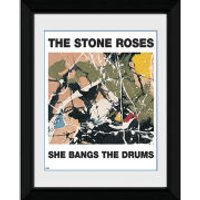 The Stone Roses She Bangs The Drums - 8   x 6   Framed Photographic - Music Gifts