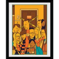 The Big Bang Theory Group - 8x6 Framed Photographic - The Big Bang Theory Gifts