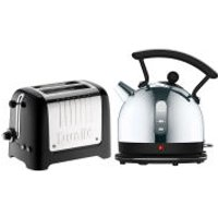 Dualit Dome Kettle and 2 Slot Toaster Bundle - Black