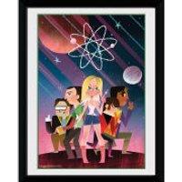 The Big Bang Theory Space - 8x6 Framed Photographic - Big Bang Theory Gifts