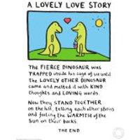 Edward Monkton A Lovely Love Story Limited Edition Fine Art Print