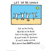 Edward Monkton Let Us Be Lovely Limited Edition Fine Art Print