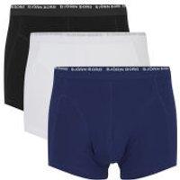 Bjorn Borg Mens Basic 3 Pack Boxer Shorts - Blue Depths - S - Blue Depths