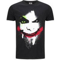 DC Comics Mens Joker Big Face T-Shirt - Black - XL