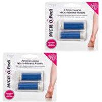 Emjoi MICRO Pedi Blue Replacement Rollers 2 x 2pcs (Bundle)