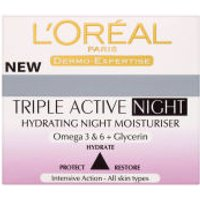 LOreal Paris Dermo Expertise Triple Active Hydrating Night Moisturiser (50ml)