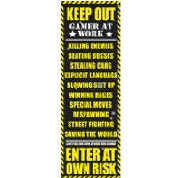 Gaming Keep Out - Door Poster - 53 x 158cm