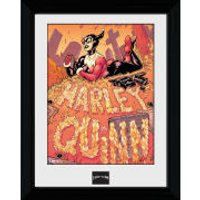 Batman Harley Quinn Graveyard - 30 x 40cm Collector Prints - Batman Gifts