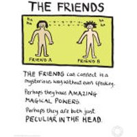 Edward Monkton Fine Art Print - Friends - Friends Gifts