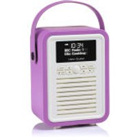 View Quest Retro Mini Bluetooth DAB+ Radio - Radiant Orchid