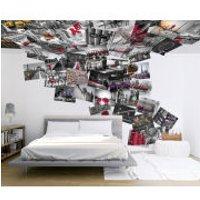 Creative Collage Cityscene 64 Piece Wallpaper