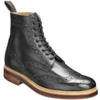 Grenson Men's Fred Brogue Boots - Black - UK 9 - Black