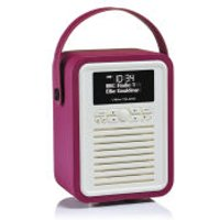 View Quest Retro Mini Bluetooth DAB+ Radio - Deep Purple