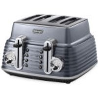 DeLonghi CTZ4003 Scultura 4 Slice Toaster - Gun Metal High Gloss