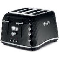 DeLonghi CTJ4003 Brilliante 4 Slice Toaster - Black