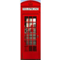 London Telephone Box - Door Poster - 53 x 158cm