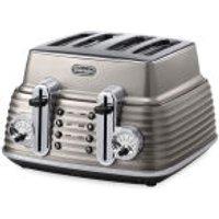 DeLonghi CTZ4003 Scultura 4 Slice Toaster - Champagne Gloss