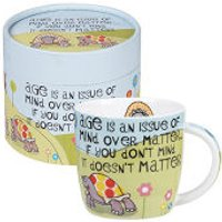 The Good Life Age Is An Issue of Mind Over Matter Mug In Hatbox