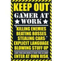 Gaming Keep Out - Maxi Poster - 61 x 91.5cm - Gaming Gifts